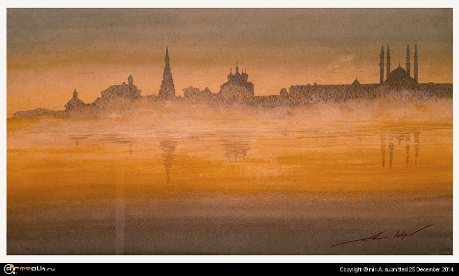 Казанский Кремль в тумане