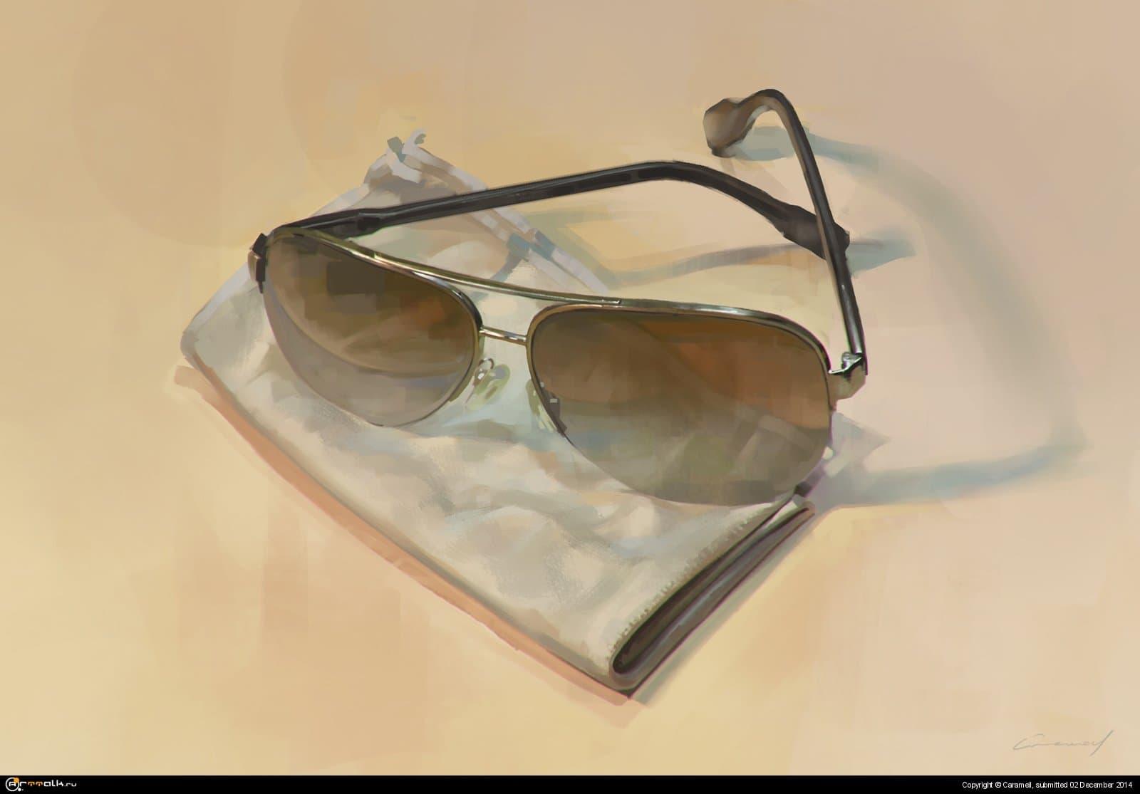 очки, с натуры