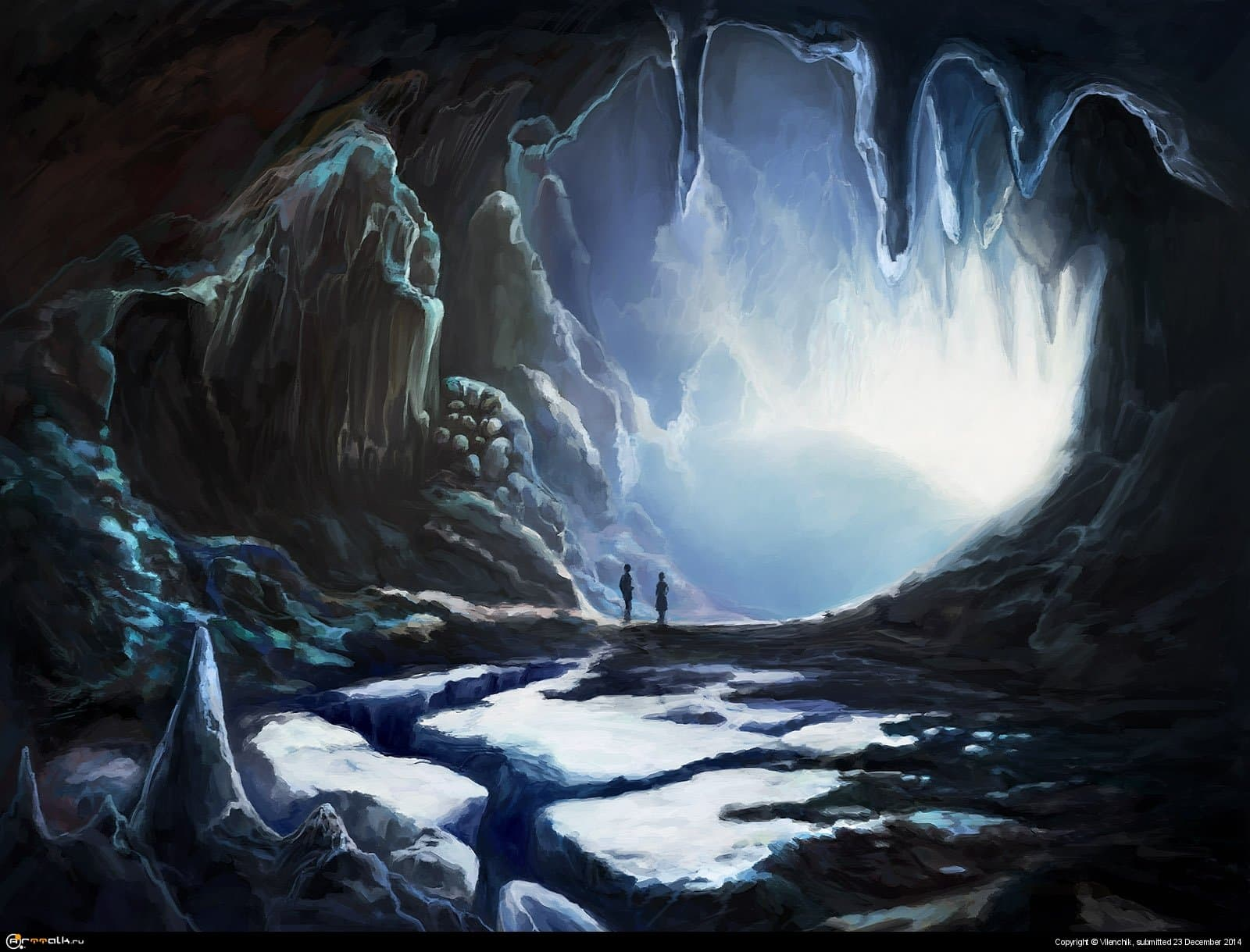Couple In Winter Cave