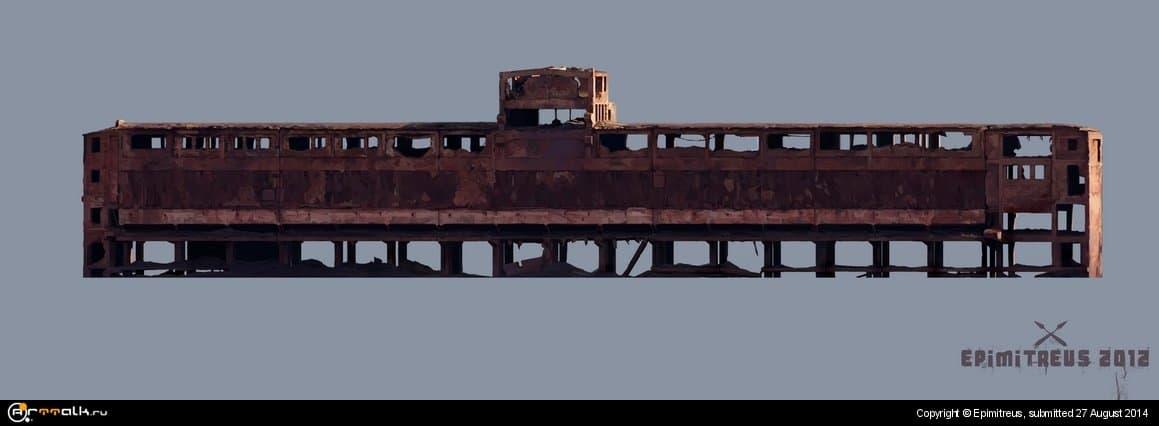 Старая фабрика возле шахты Гигант