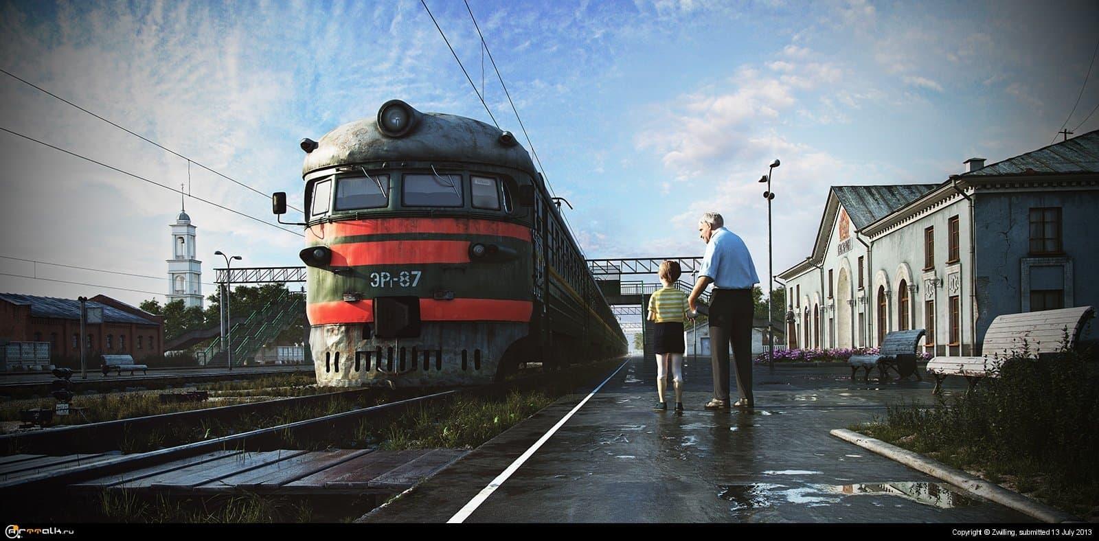 Внимание поезд! На Москву.