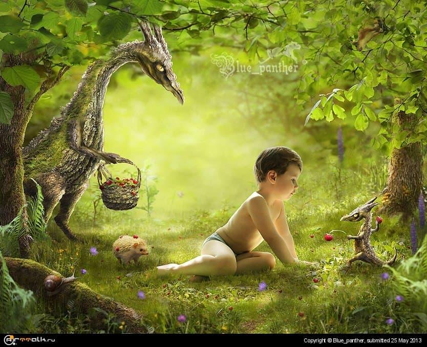 Древесные драконы, обожающие землянику