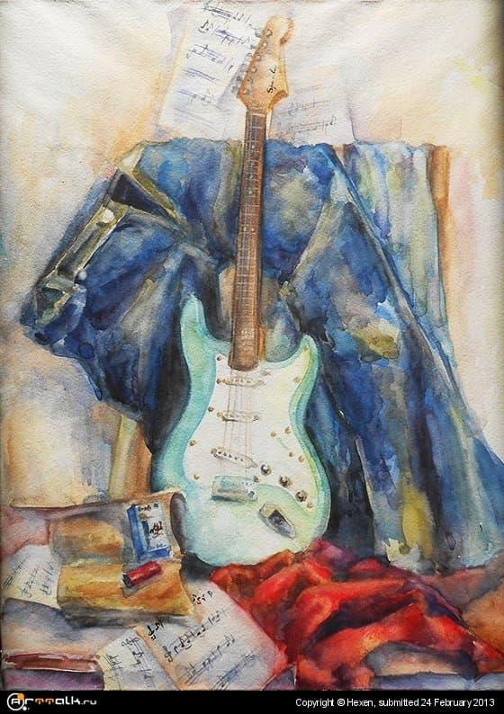Натюрморт с гитарой