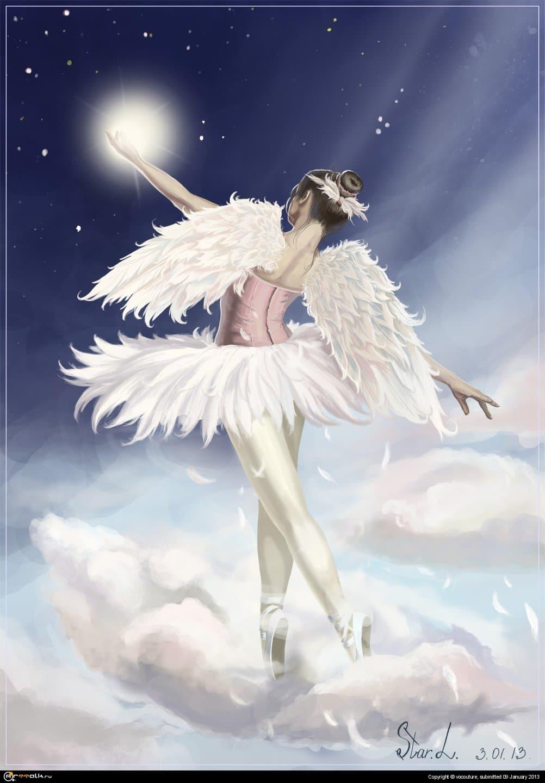 балерина в облаках