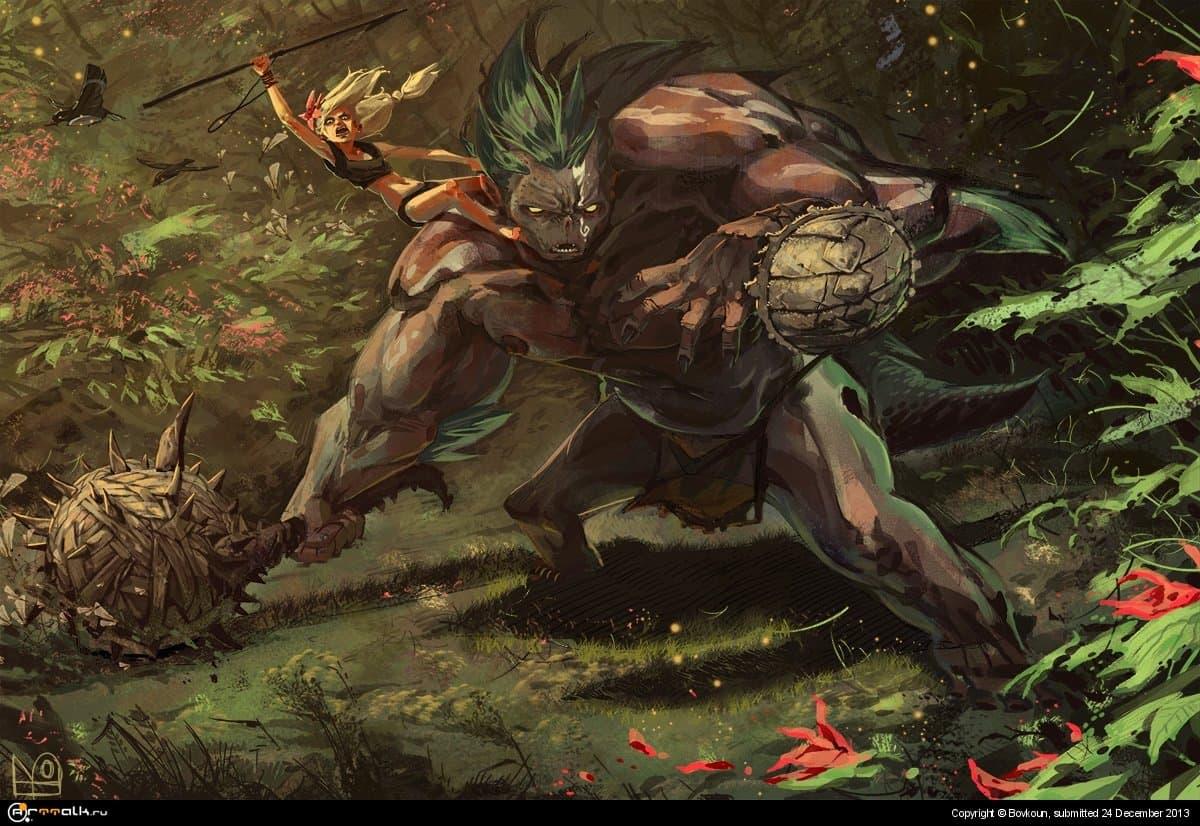 воинственный тролль и Цветик