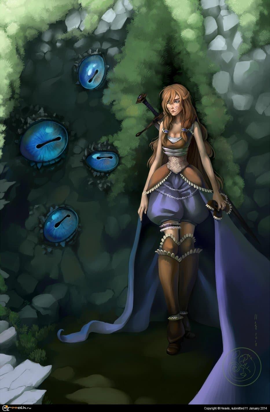 Юная воительница