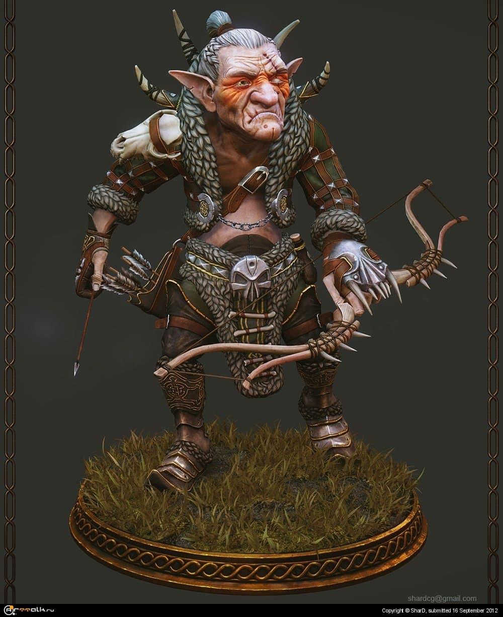 Goblin Archer, Mixamo Fantasy War Character Modeling Contest