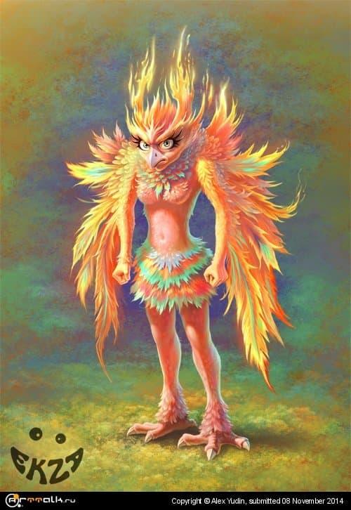 птичка-феникс