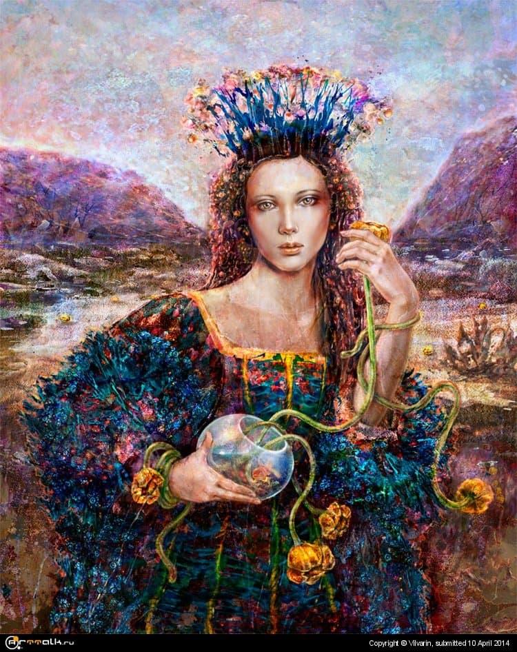 Вечерний букет из водяных цветов