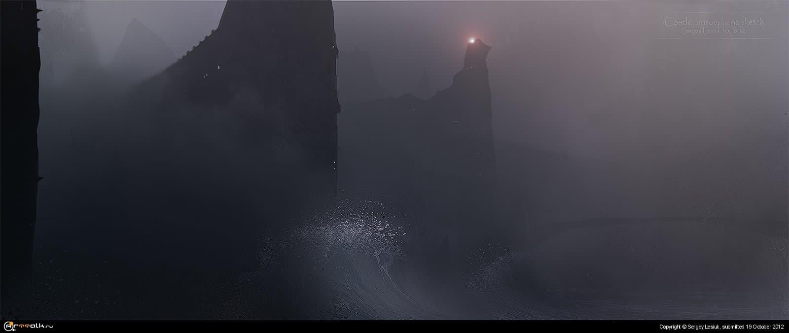 замок: атмосферный скетч