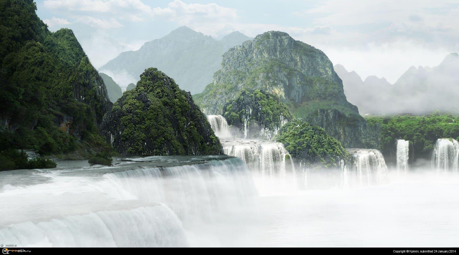 Land Of Waterfall