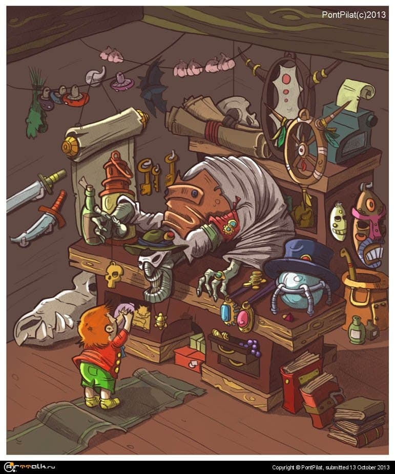 продавец амулетов