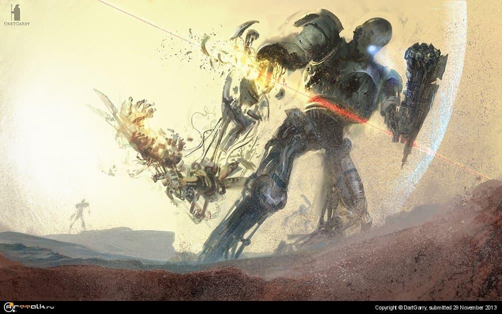 приключение роботов на Марсе