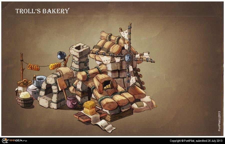 домик тролля-пекаря