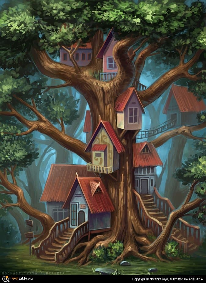 Houses On The Tree