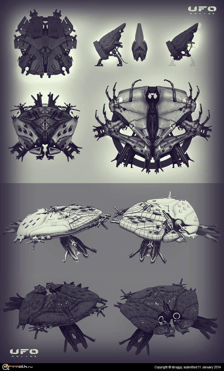 Концепт-арт кораблей пришельцев