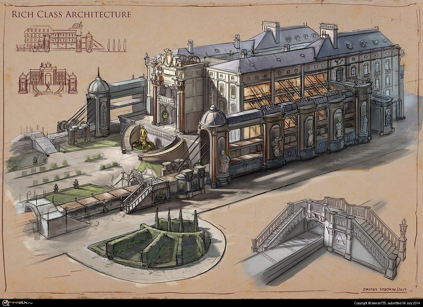 La Revolution 1625. Rich Class Architecture