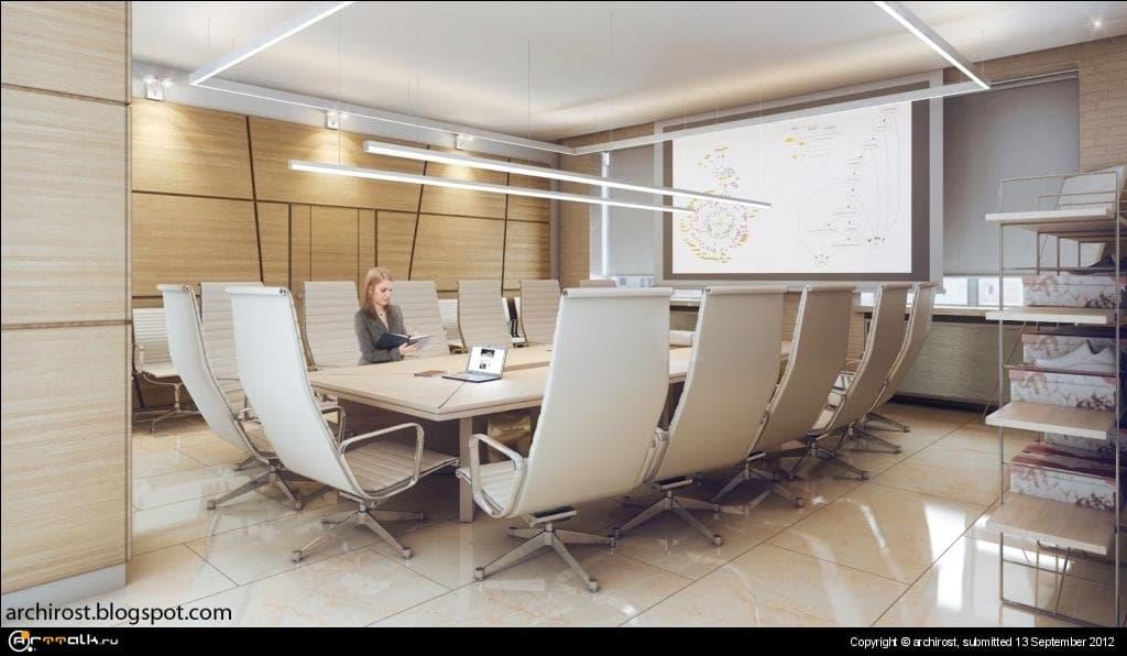 Визуализация офиса в Новосибирске.