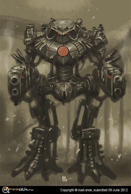 Робот Истребитель (скетч)