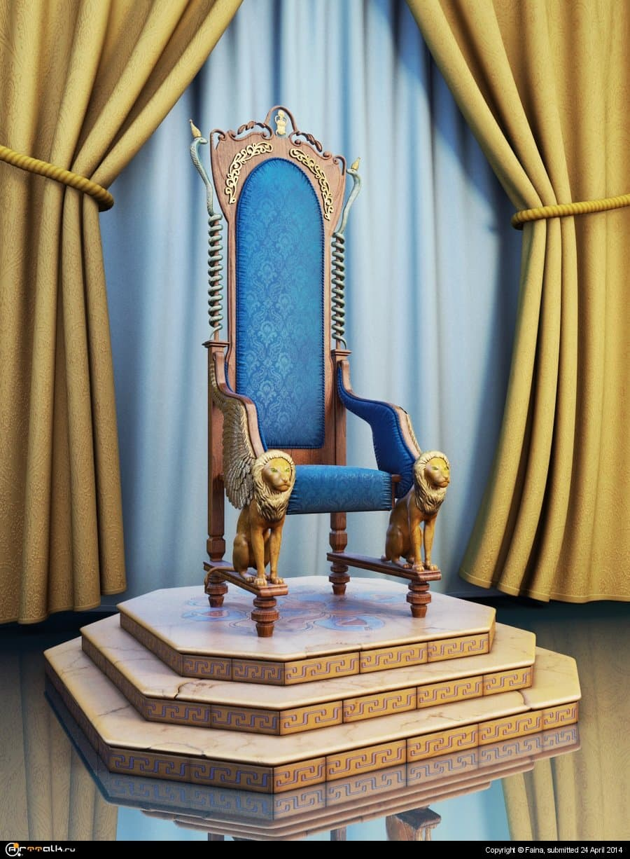 Кресло со львами