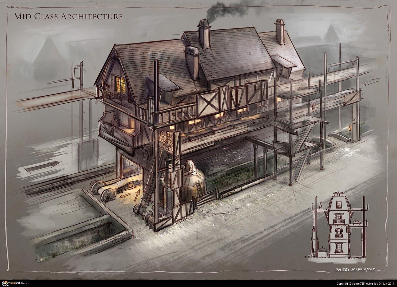 La Revolution 1625. Mid Class Architecture