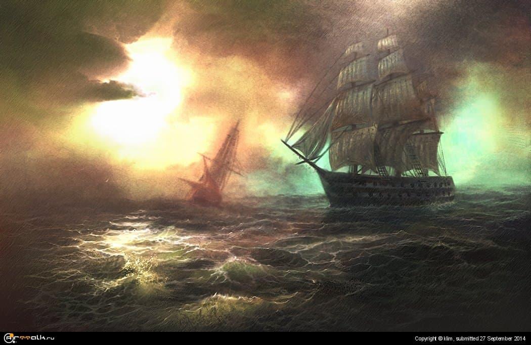 Сияние над морем