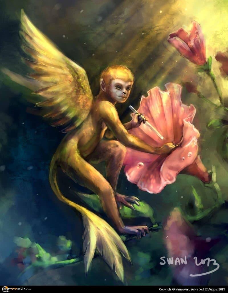 обезьянка-колибри