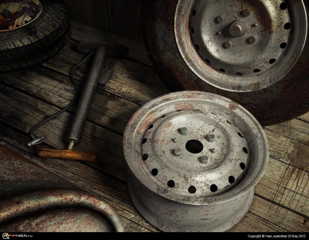 Ремонт старых колёс...