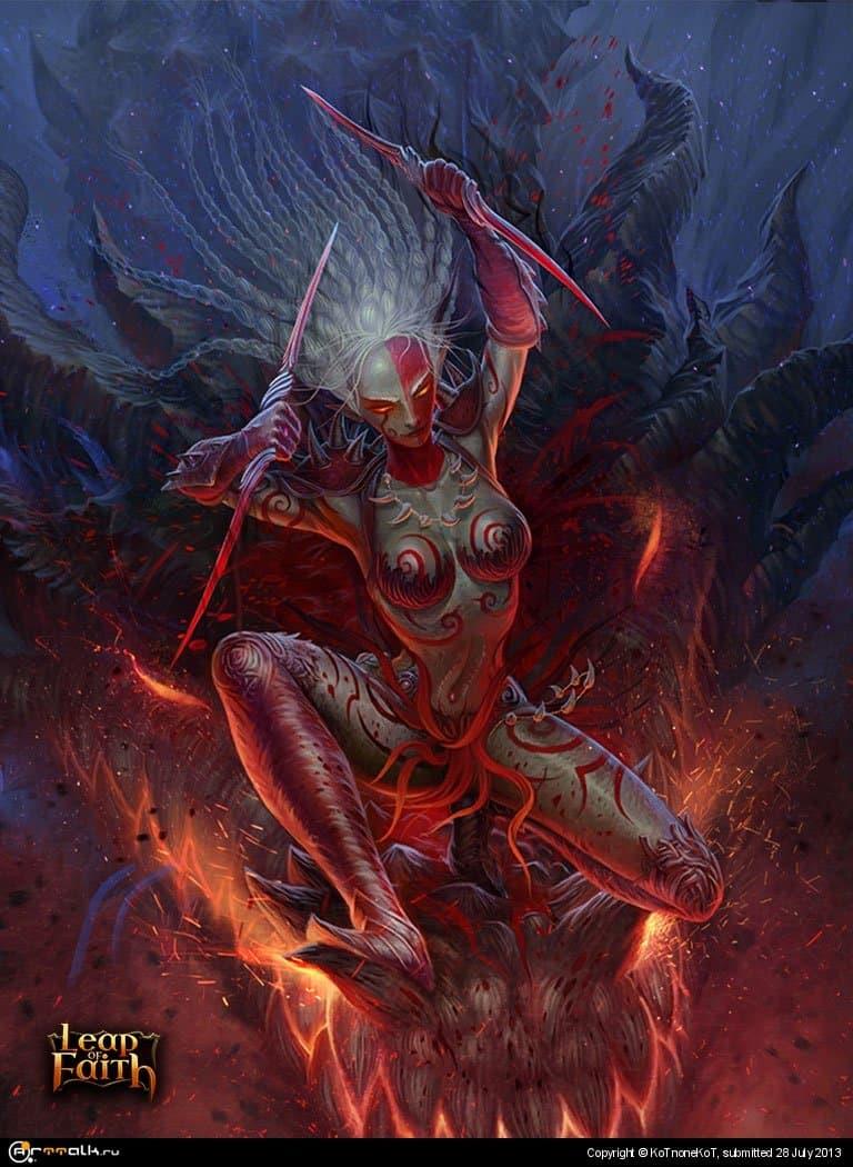 Dark Elf With Daggers #2