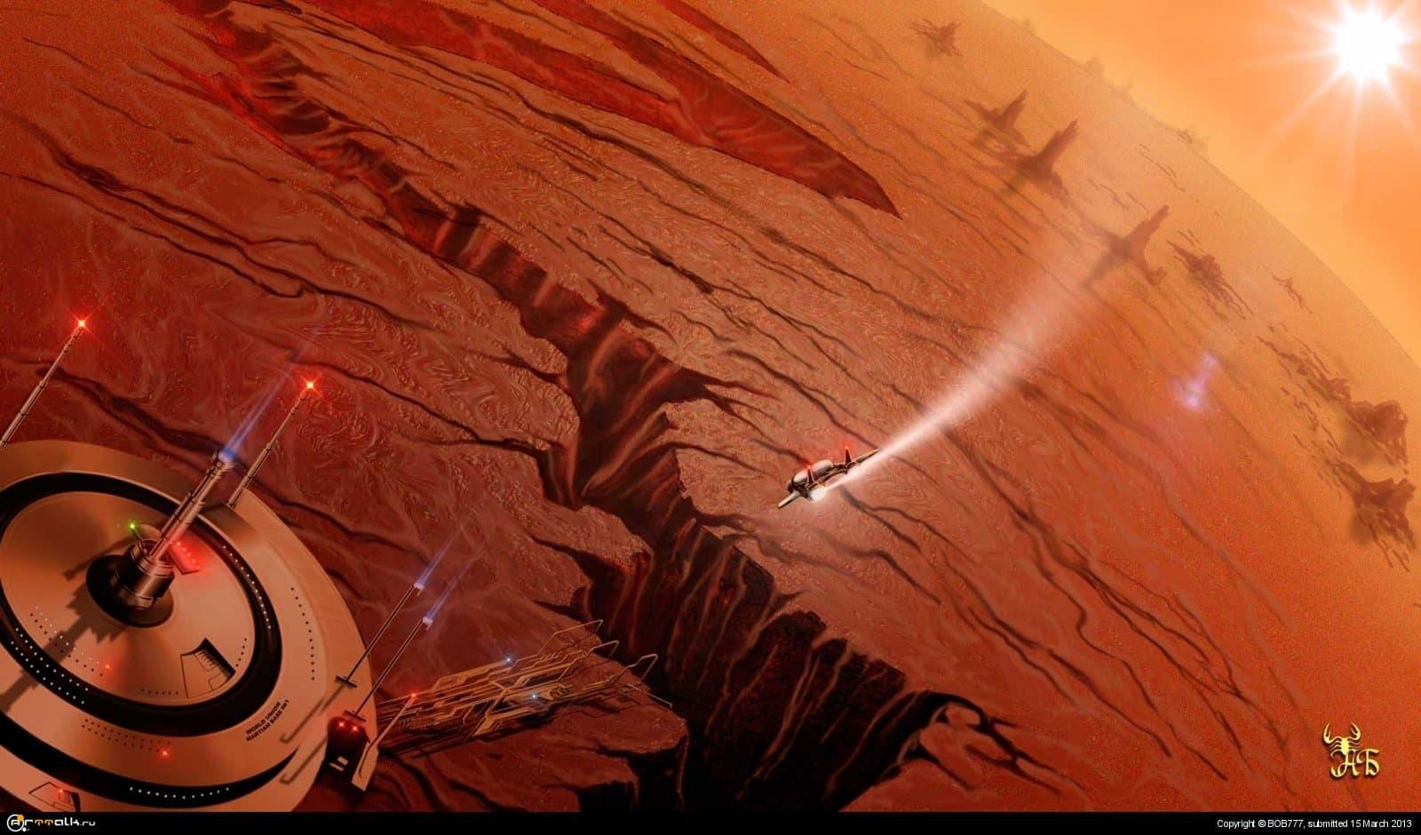 Марс...Прибытие...(База №1)