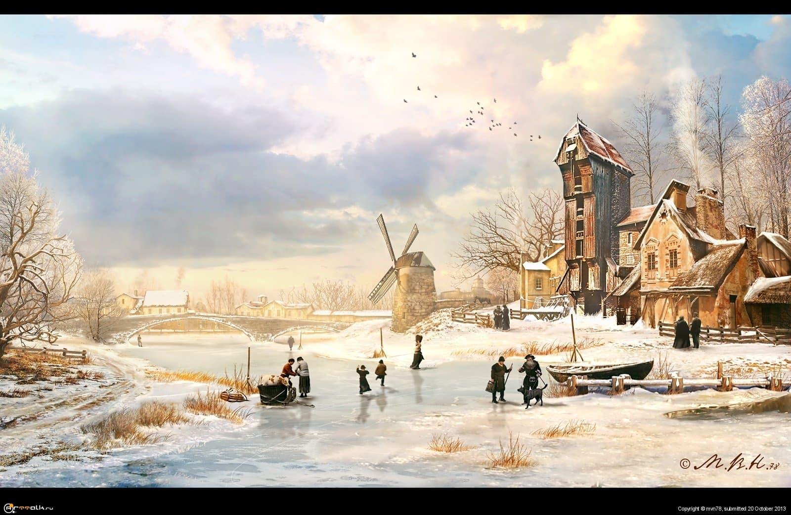 Зимний день / Winter Afternoon