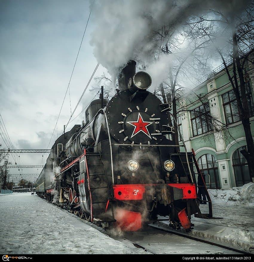 Steam Locomotive At Riga Station