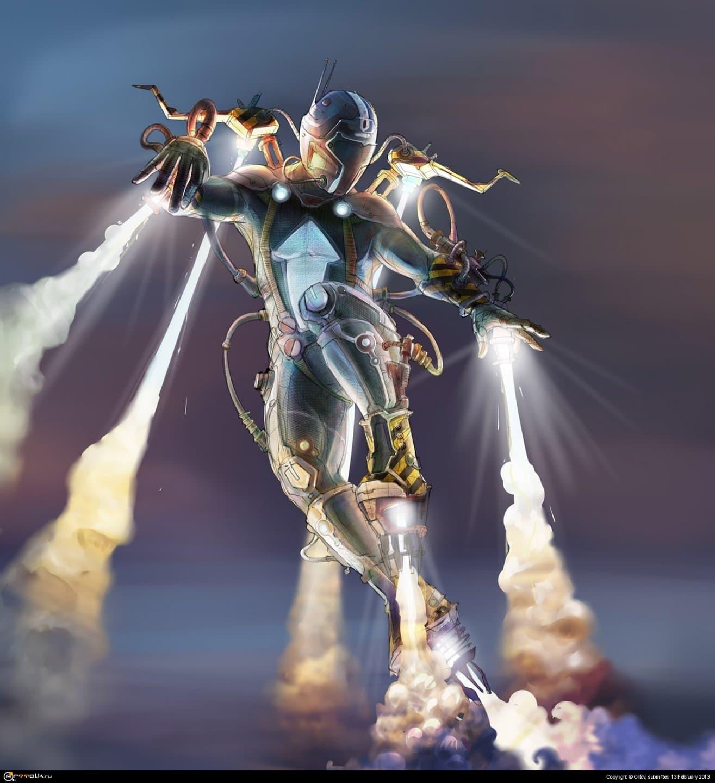 испытания летательного аппарата Flying Man -16
