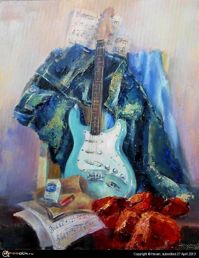 Натюрморт с гитаркой