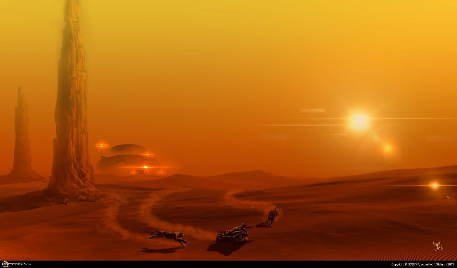 Марс... Успеть до заката..( База №1)