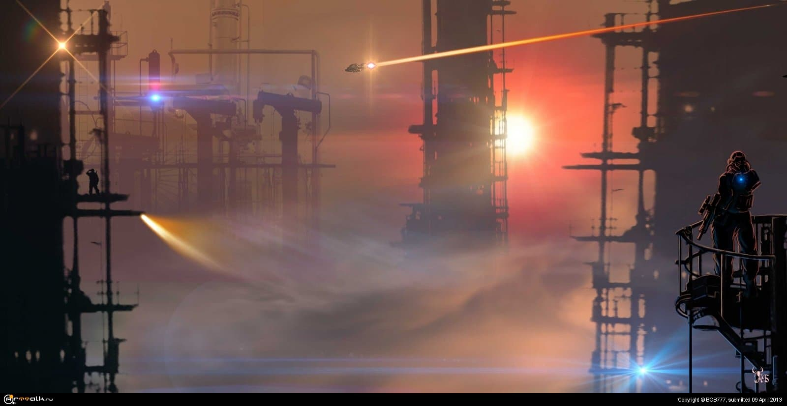 Марс... Утро на очистных.... (База №1)