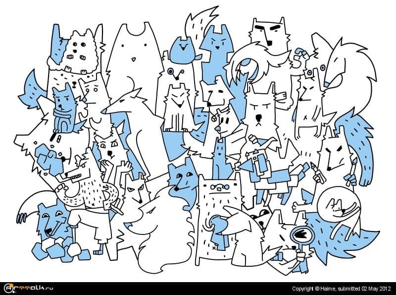 волчье племя.