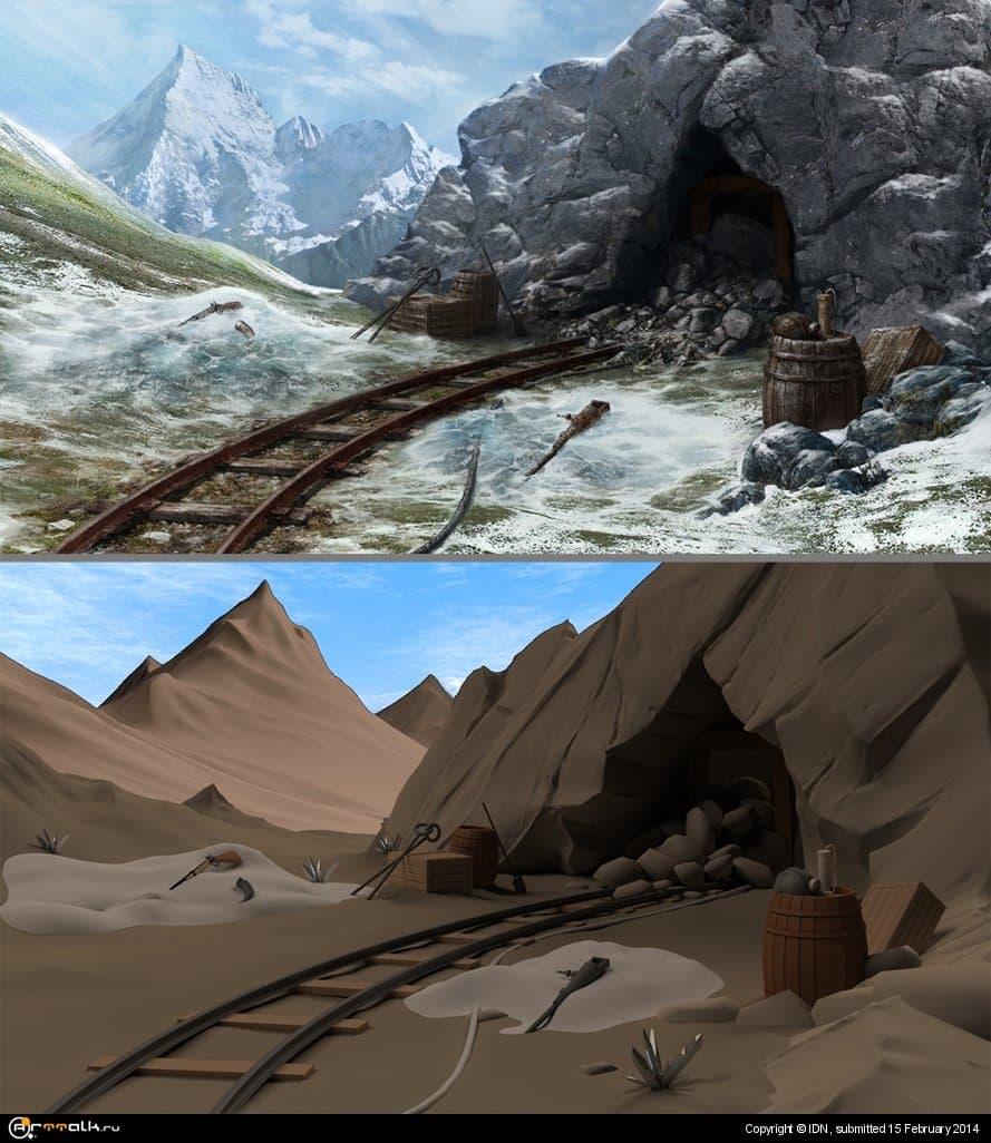 Вход в шахты