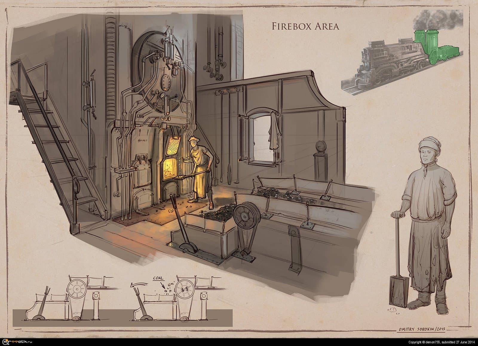 La Revolution 1625. Fire Box Area