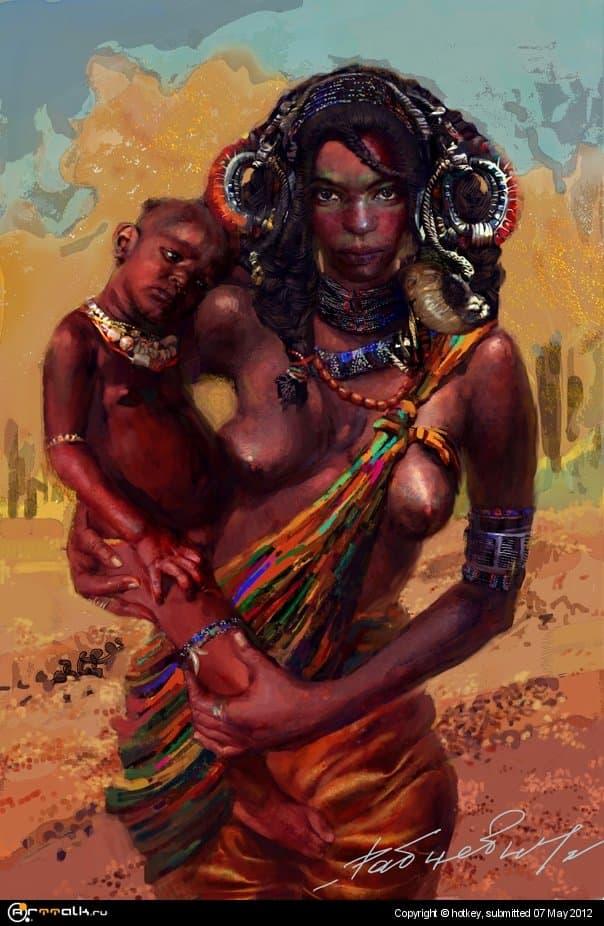 женщина химбе