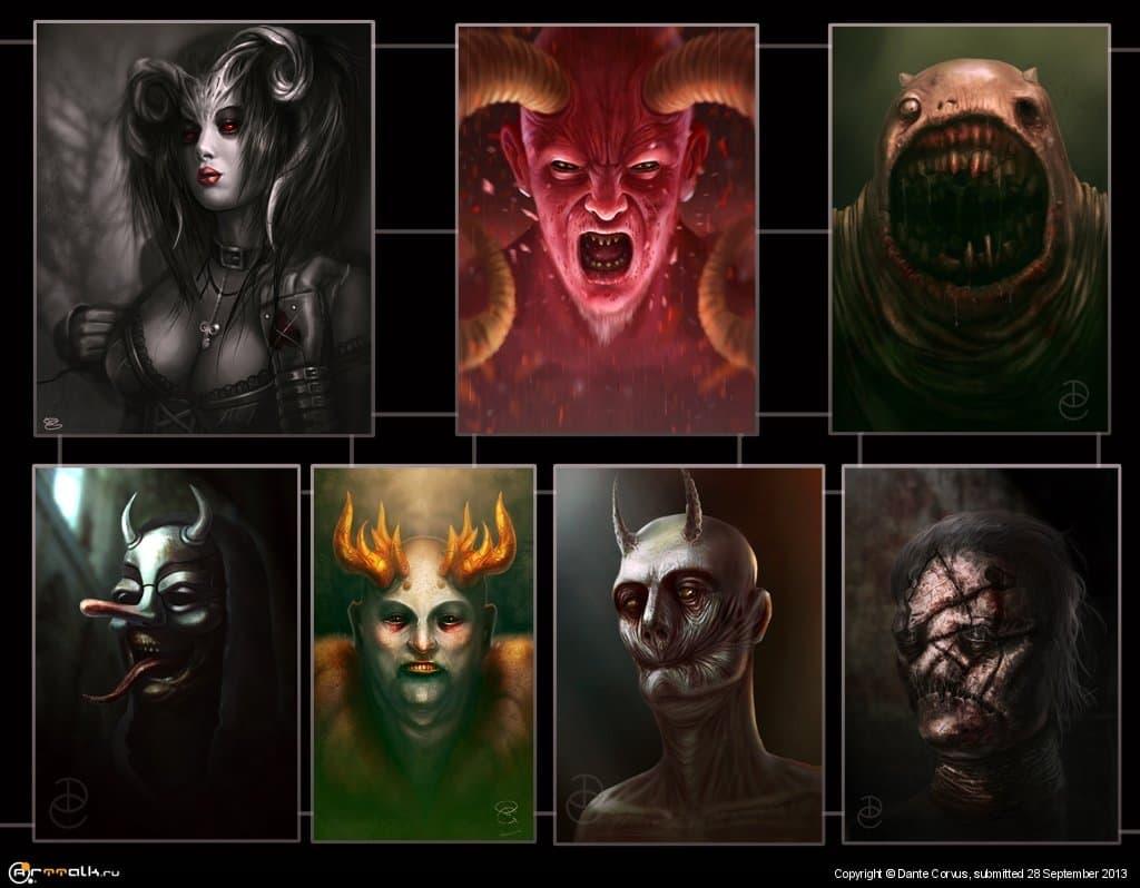 Семь демонов порока человека
