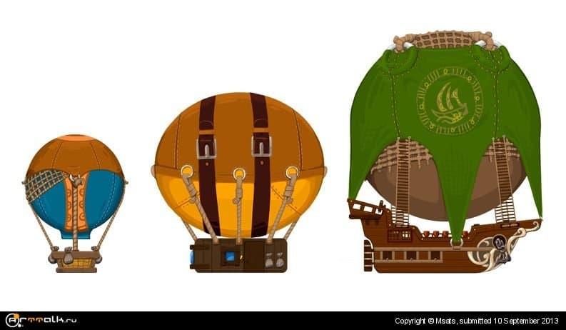 Воздушные шары - графика для игры