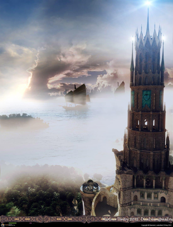 Башня в лагуне