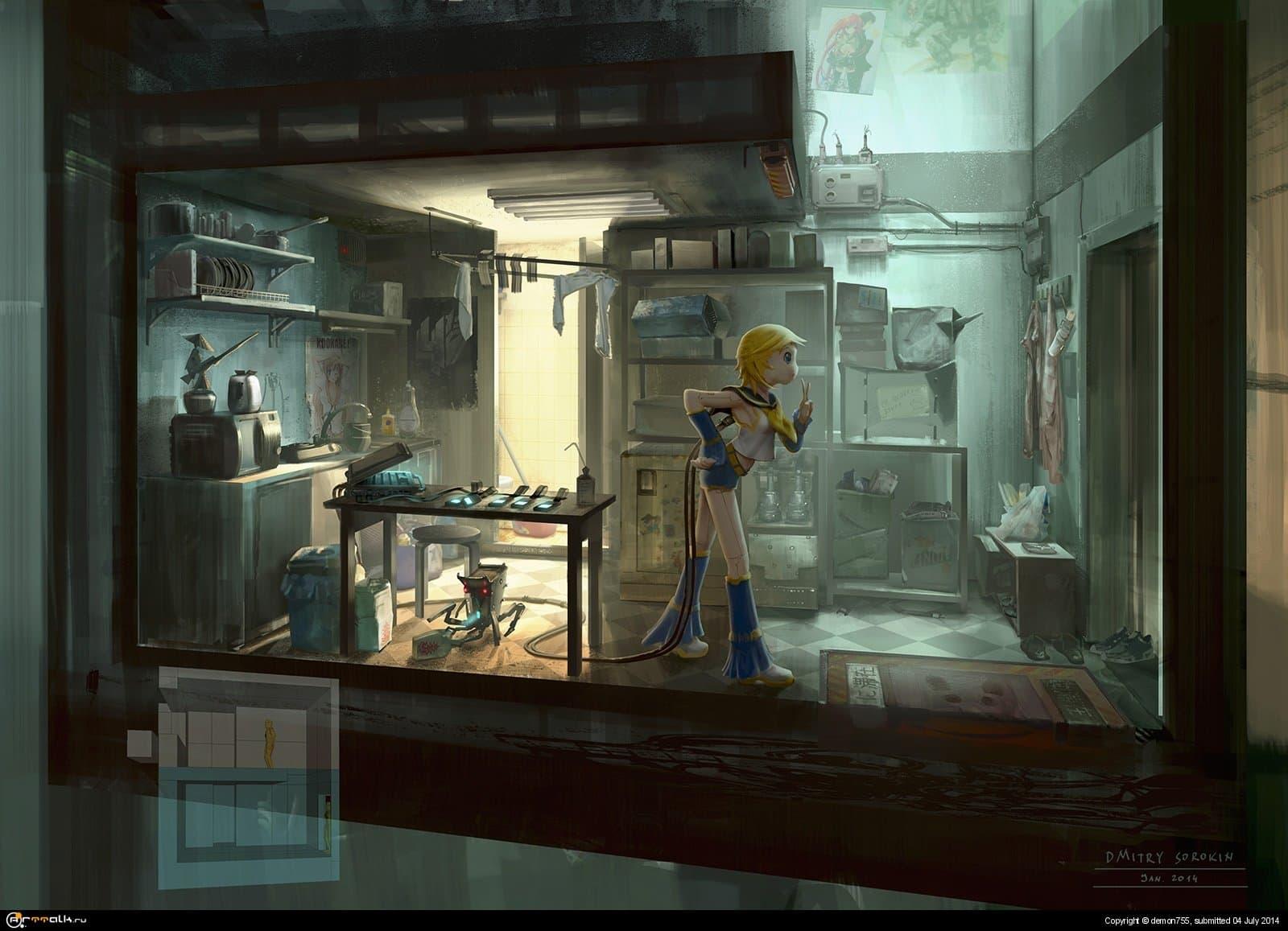 Cyberpunk. Otaku Place, Kitchen
