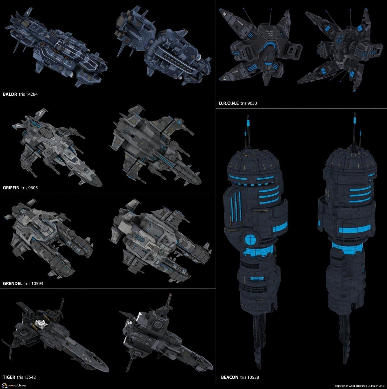 Корабли для игры Star Conflict