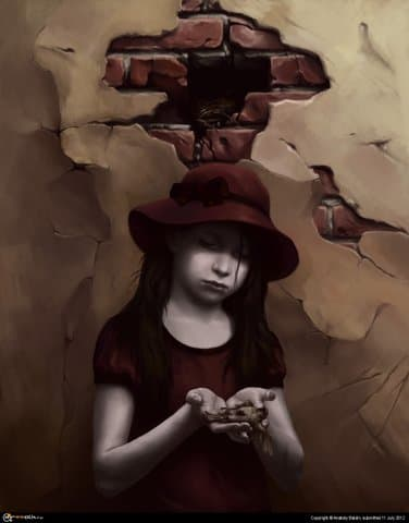 Девочка с мёртвой птицей