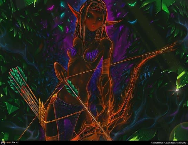 Темная эльфийка.