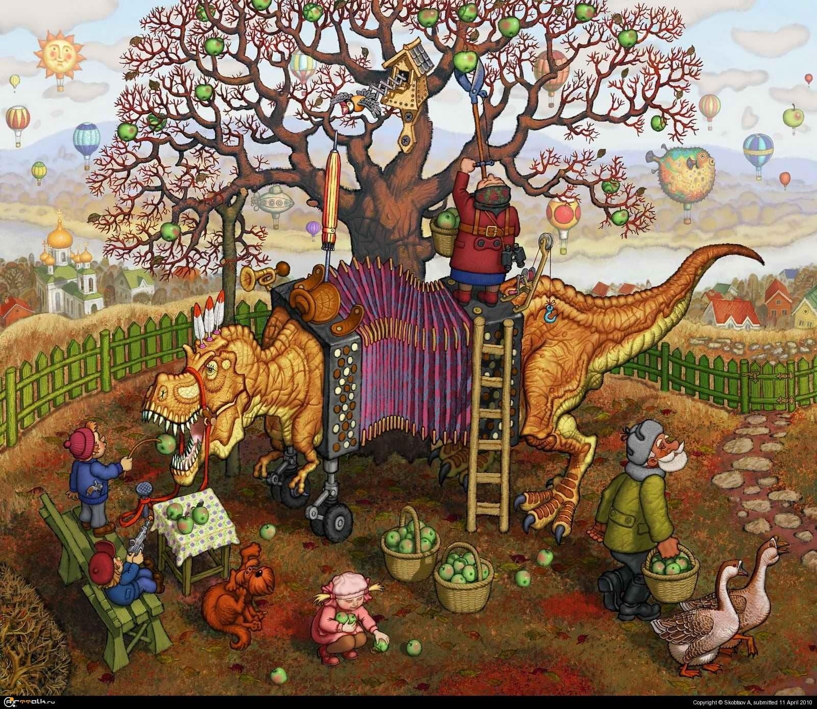 Сбор урожая(солнечный ноябрь)