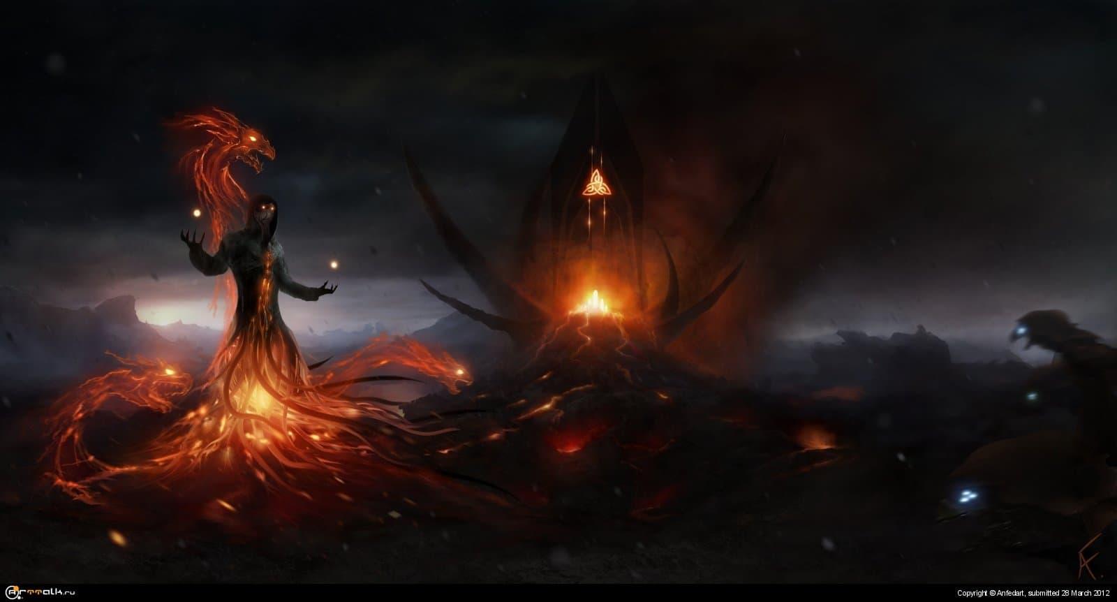 Огонь и пепел.