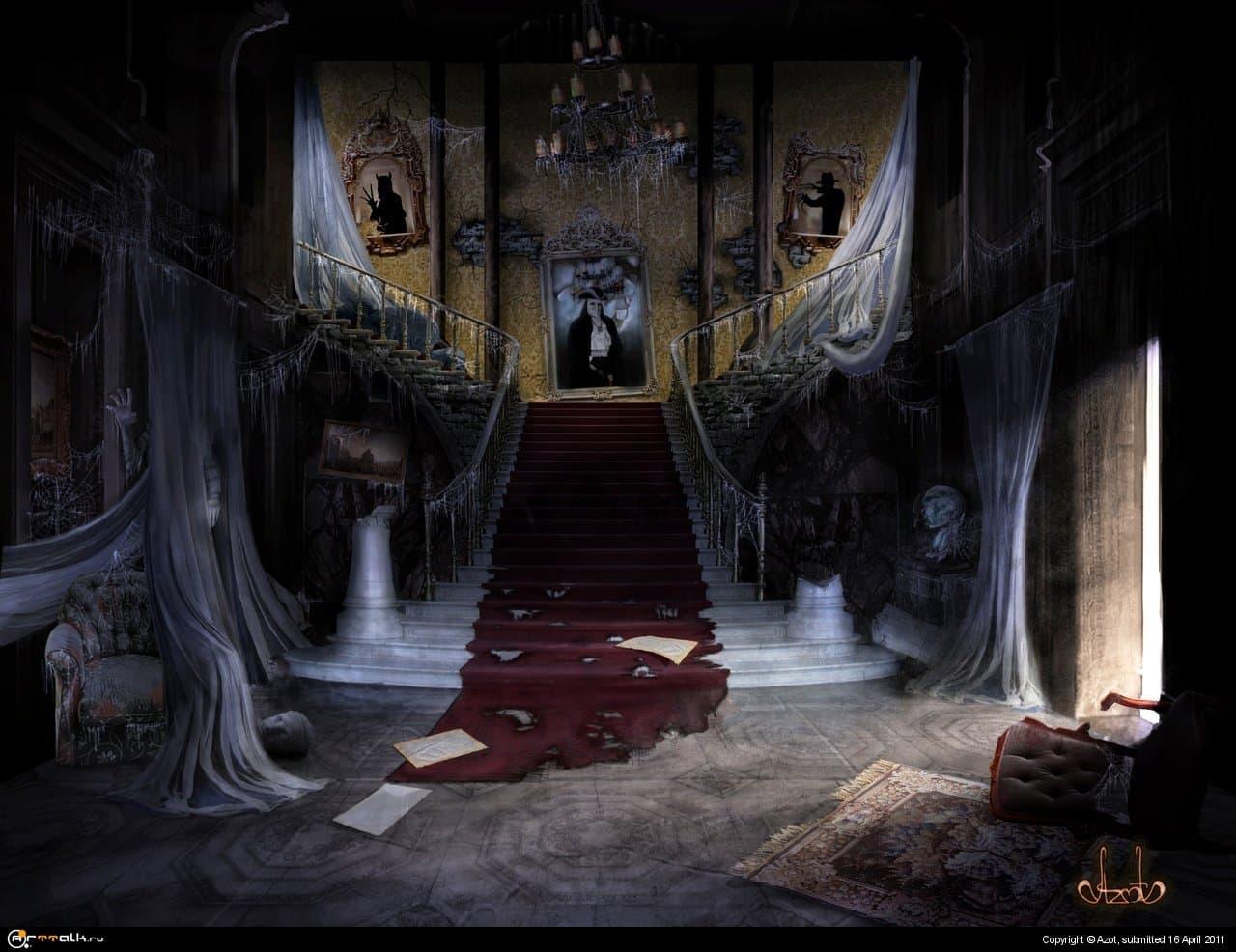 Заброшенный замок с призраками